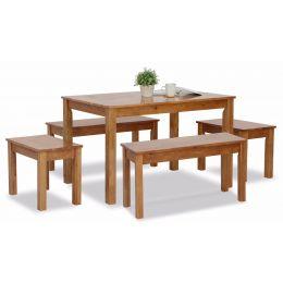 West Brooks Wooden Dining Set