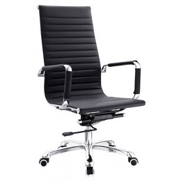 Eames Office Chair Leather High Back Replica (Black)