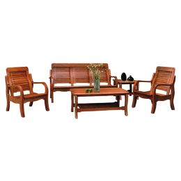 Denot Solid Wood Sofa Set