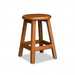 Ramon Solid Wood Round Stool