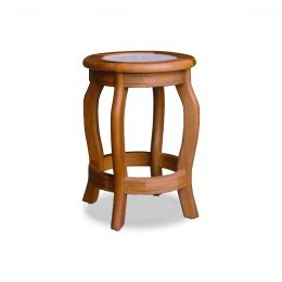 Lois Solid Wood Stool with Marble Top