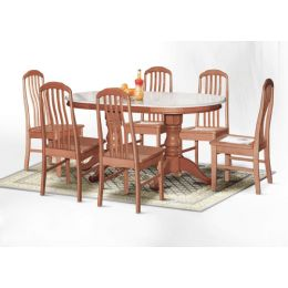 Lois Natural Marble Dining Set 001