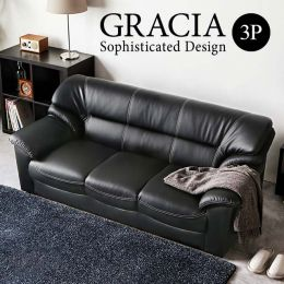 Gracia Leather Sofa 3 Seater