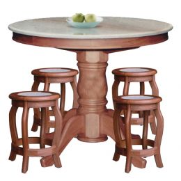 Lois Natural Marble Dining Set 006