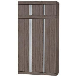 Milan Open Door Wardrobe I (Brown)