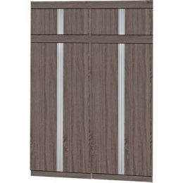 Milan Open Door Wardrobe II (Brown)