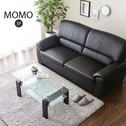 Momo Leather Sofa 3 Seater