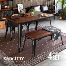 Sanctum Solid Wood Dining Table Set (4 Piece)