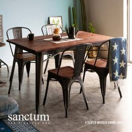 Sanctum Solid Wood Dining Table (4 Seater)