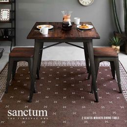 Sanctum Solid Wood Dining Table (2 Seater)