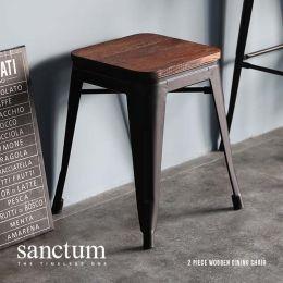 Sanctum Vintage Solid Wood Dining Stool