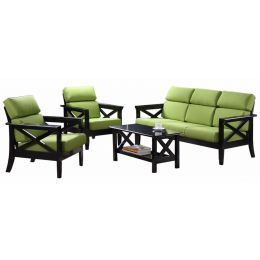 Alonso Solid Wood Sofa Set II