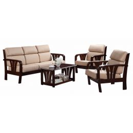 Alonso Solid Wood Sofa Set III