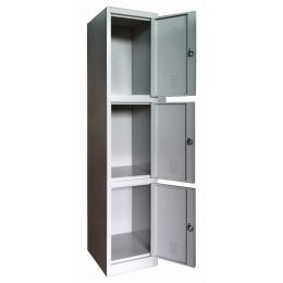 Keith M. Metal Locker (3 Door)