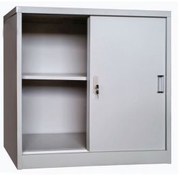 Keith M. Sliding Metal Cabinet (2 Door)