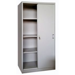 Keith M. Full Height Sliding Metal Cabinet (2 Door)
