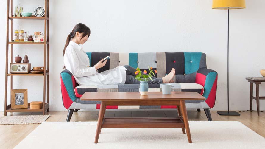 Continental Sofa's backrest at just the right height for comfort
