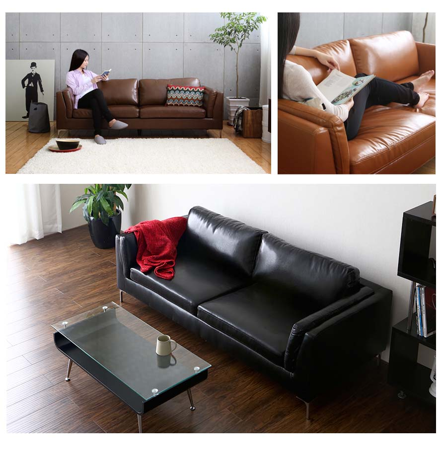 The Forma Sofa is seen here in 3 colors and different angles.
