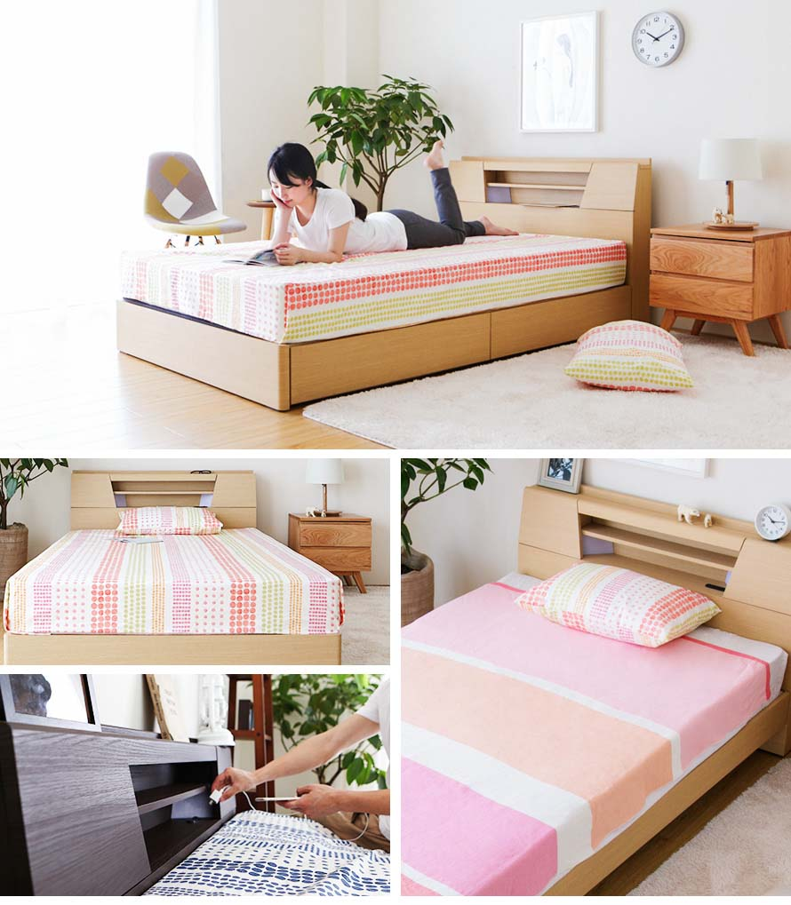 The Feliz bed is a versatile Japanese Bed with a scandinavian design for the modern family.